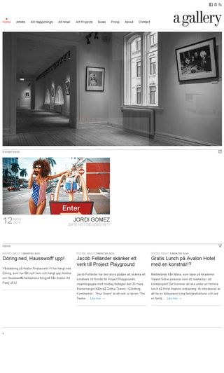 Mobile preview of agallery.se