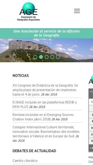 Mobile preview of age-geografia.es