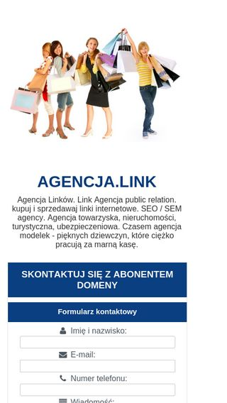 Mobile preview of agencja.link