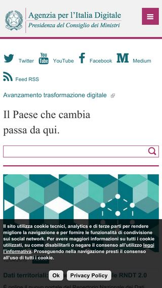 Mobile preview of agid.gov.it