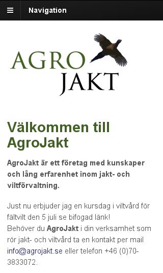 Mobile preview of agrojakt.se
