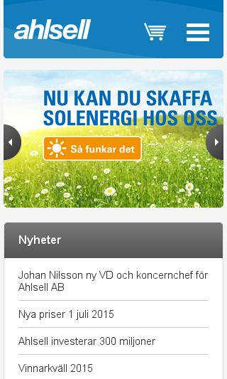 Mobile preview of ahlsell.se