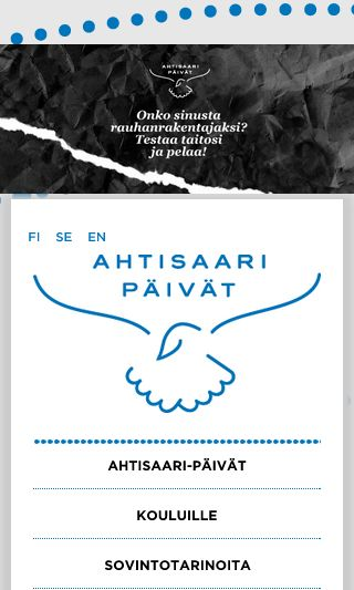 Mobile preview of ahtisaaripaivat.fi