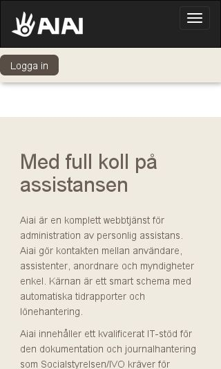 Mobile preview of aiai.se