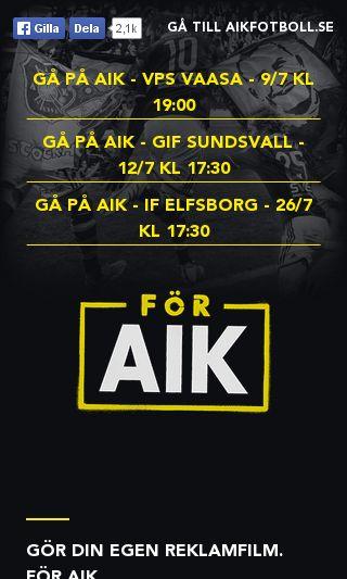 Mobile preview of aikfotboll.se