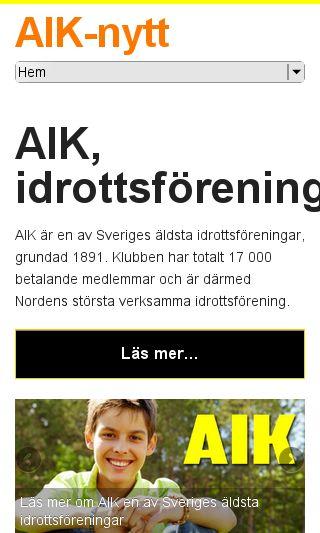 Mobile preview of aiknytt.se
