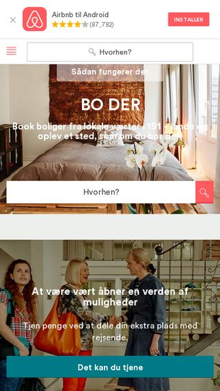 Mobile preview of airbnb.dk