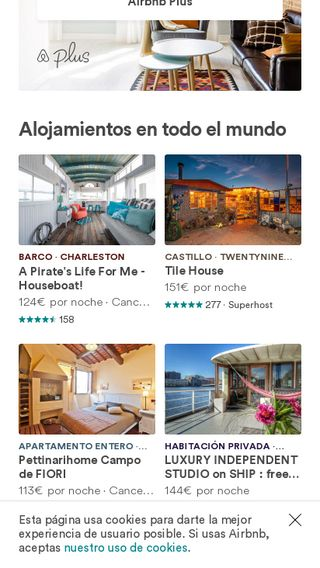 Mobile preview of airbnb.es