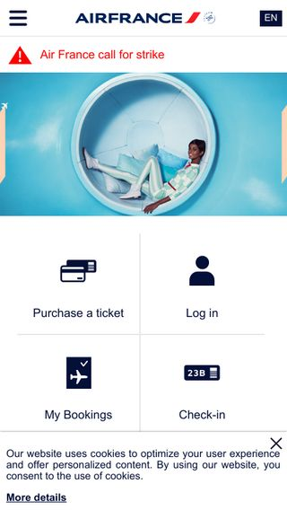 Mobile preview of airfrance.us