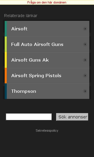Mobile preview of airsoftsweden.se