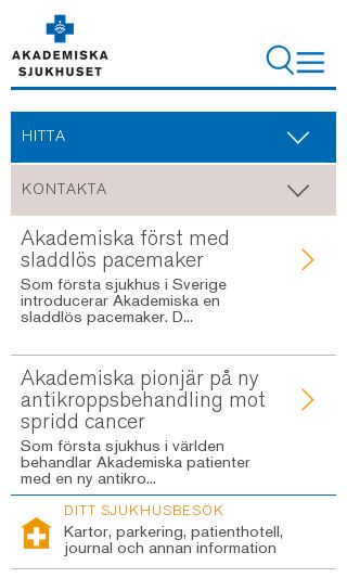Mobile preview of akademiska.se