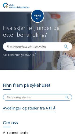 Mobile preview of aker-universitetssykehus.no