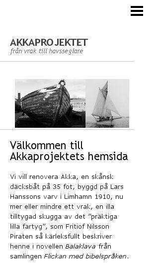 Mobile preview of akkaprojektet.se
