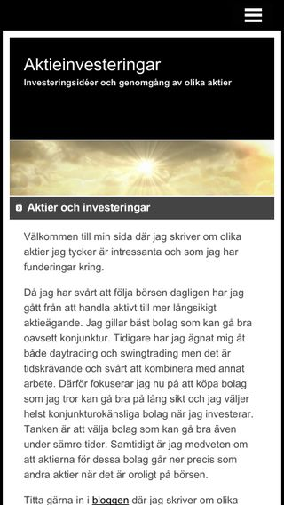 Mobile preview of aktieinvesteringar.nu