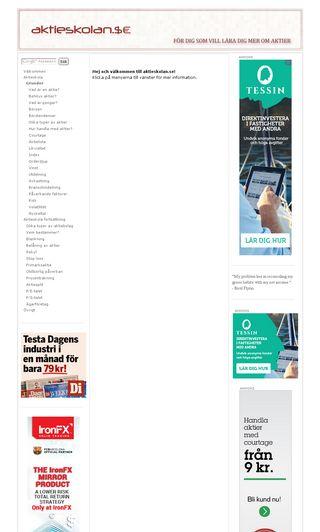 Mobile preview of aktieskolan.se