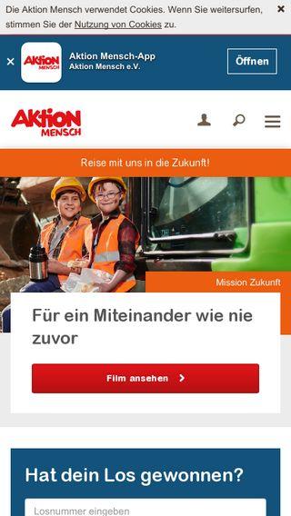 Mobile preview of aktion-mensch.de