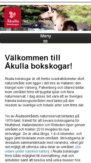 Mobile preview of akullabokskogar.nu