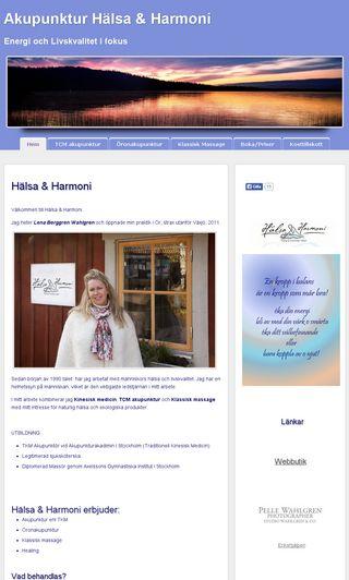 Mobile preview of akupunkturhalsaoharmoni.se