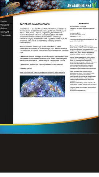 Mobile preview of akvaariolinna.fi