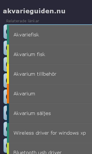 Mobile preview of akvarieguiden.nu