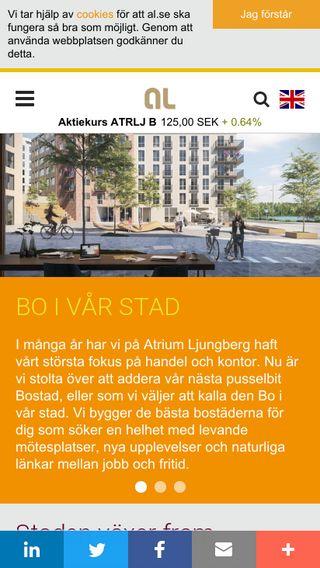 Mobile preview of alltljuspauppsala.se