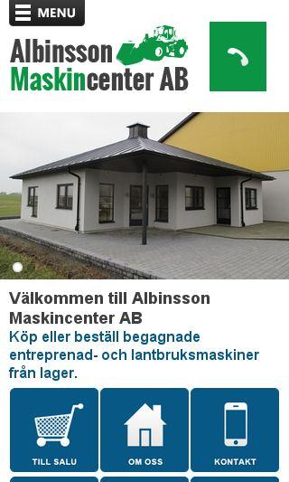 Mobile preview of albinssonmaskin.se