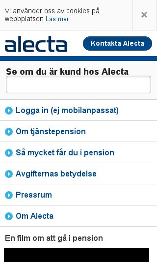 Mobile preview of alecta.se