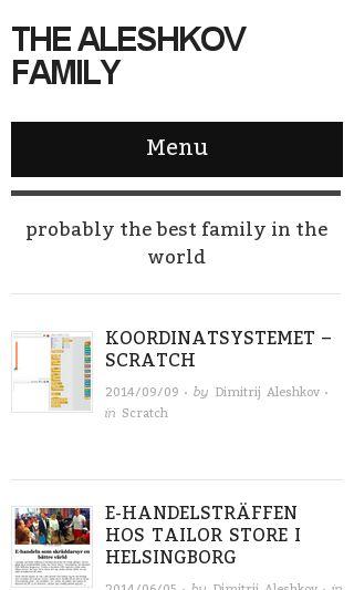 Mobile preview of aleshkov.com