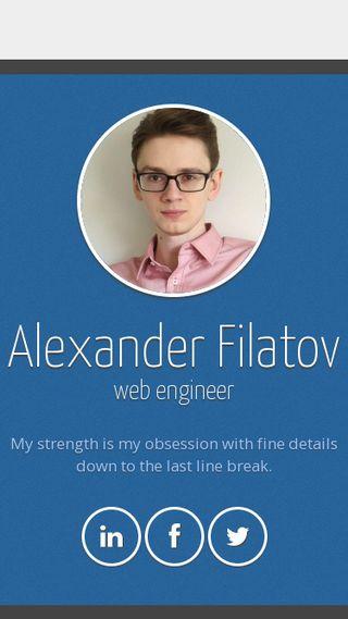 Mobile preview of alexanderfilatov.se