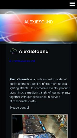 Mobile preview of alexiesoundph.n.nu