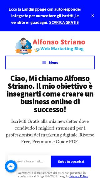 Mobile preview of alfonsostriano.it