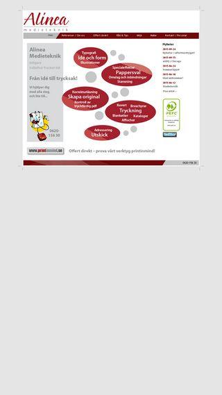 Mobile preview of alinea.se