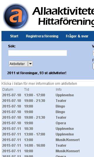 Mobile preview of allaaktiviteter.se