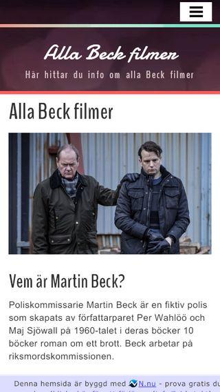 Mobile preview of allabeckfilmer.nu
