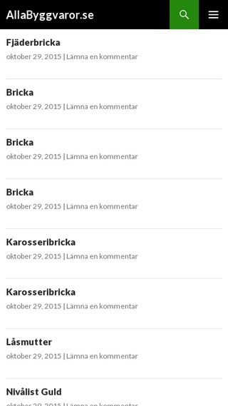 Mobile preview of allabyggvaror.se