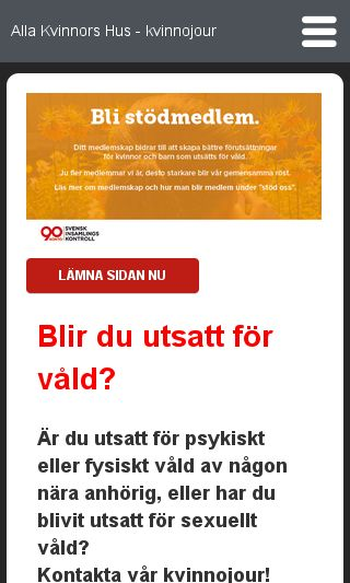 Mobile preview of allakvinnorshus.org