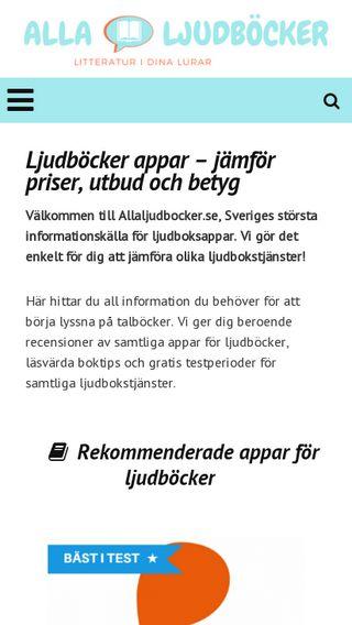 Mobile preview of allaljudbocker.se