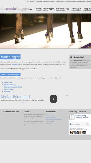 Mobile preview of allamodebloggar.se