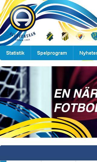 Mobile preview of allsvenskan.se