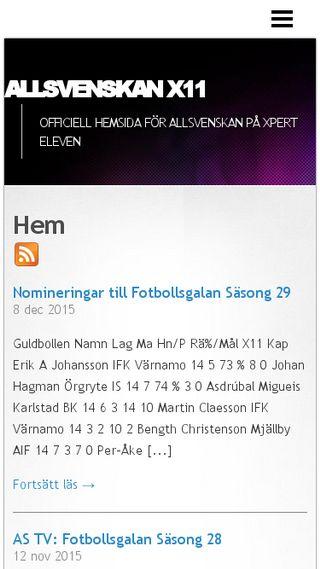 Mobile preview of allsvenskanx11.n.nu
