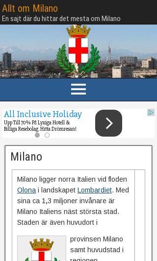 Mobile preview of allt-om-milano.se
