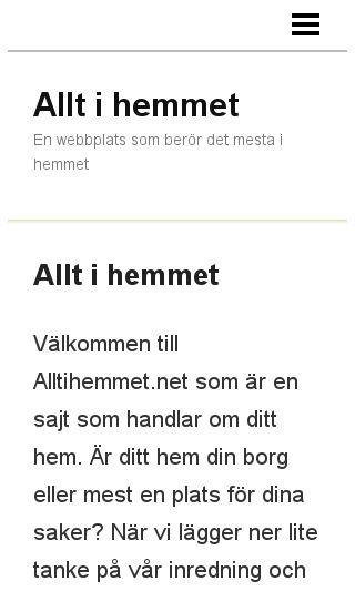 Mobile preview of alltihemmet.net