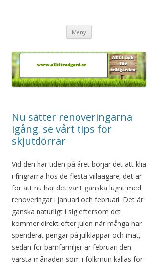 Mobile preview of alltitradgard.se