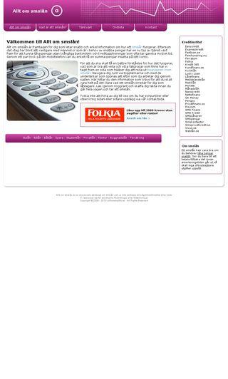 Mobile preview of alltomsmslan.se