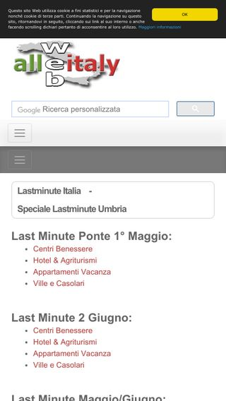 Mobile preview of allwebitaly.it