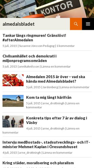 Mobile preview of almedalsbladet.se