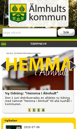 Mobile preview of almhult.se