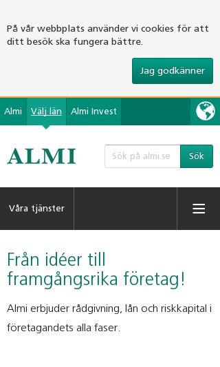Mobile preview of almi.se