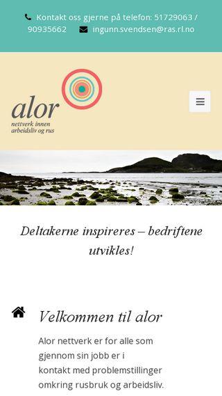 Mobile preview of alor.no