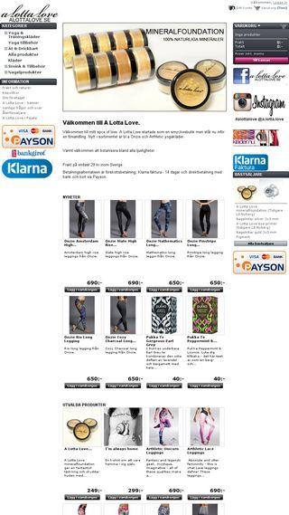 Mobile preview of alottalove.se